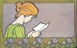 Illustrateur Meunier Georges, Femme Lisant, Iris - Meunier, G.