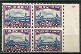 South Africa Südafrika Union Mi# 191-2 Postfrisch/MNH - Definitives, Parliament Building - Part Sheet - Ongebruikt
