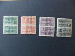 ALGERIE Colis Postaux 4 Valeurs Série Complète N° 10b à 14a TETE-BECHE Neufs Sans Charnière Voir Scan - Postpaketten