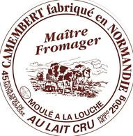 ETIQUETTE FROMAGE CAMEMBERT -  Maitre Fromager  -    Fab En NORMANDIE FR 50.267.01 - Käse