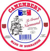 ETIQUETTE FROMAGE CAMEMBERT -  LE GRAND NORMAND -  Fab En NORMANDIE FR 61.402.01 - Käse