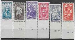 COIFFES REGIONALES - AU PROFIT DU SECOURS NATIONAL - Unused Stamps
