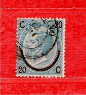 REGNO °- 1865  C. 20 Su 15 C. 1 Tipo, Sass. N° 23 .  Usato - Oblitérés