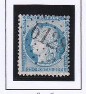 GC 6128 BANNOGNE-ET-RECOUVRANCE ( Dept 7 ) S / N° 60A Indice Baudot 15 Soit : 160€ - 1849-1876: Periodo Classico
