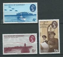 Guernesey - Série Yvert N° 23  à 25  ** ,  3 Valeurs Neuves Sans Charnière - Lr 32005 - Guernsey