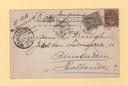 Destination Hollande - St Marcellin - Isere - 28 Oct 1903 - Amsterdam - Type Blanc Sage - 1877-1920: Semi Modern Period