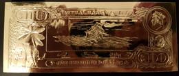 Belize 22k Gold 100$, P-CS1. The Loss Of The Fishburn Ship - Belize