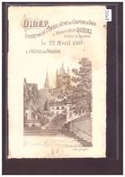 FORMAT 10x15cm - LAUSANNE - DINER DU CONSEIL D'ETAT A Mgr DERUAZ EVEQUE DE LAUSANNE LE 22 AVRIL 1891 A L'HOTEL DU FAUCON - VD Vaud