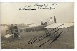 AVIATION Aviateur RARE Carte Photo DAUCOURT Vainqueur Coupe Pommery Valenciennes Biarritz DEDICACE 1912  ....G - Airmen, Fliers