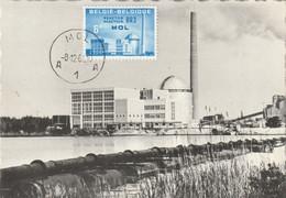 Carte Maximum -  Mol - Centre De L'Etude De L'Energie Nucléaire Belge - Réacteur BR 3 - 1961-1970