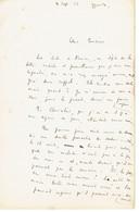 Emile GUILLAUMIN Département Allier (03) Lettre Du 4 Septembre 1926 - Autografi