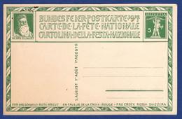 Bundesfeier-Postkarte 1917 (aa3548) - Entiers Postaux
