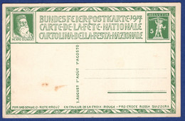 Bundesfeier-Postkarte 1917 (aa3550) - Entiers Postaux