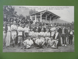 MONACO ( MONTE - CARLO) N°344 Equipe écossaise - Match De Football - HERCULIS -CAP MARTIN - 2 OCTOBRE 1910 -Très RARE - Andere