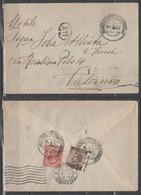 ITALIA 1925 - Lettera Con Annullo Ambulante Sciacca-Castelvetrano - Effigie 10 C. E 50 Su 40 C. Dentellatura Spostata - Storia Postale