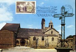 VALREAS  650e Anniversaire De L'enclave Des Papes 25 Mai 1968 Carte Maximum édition La Cigogne - 1960-1969