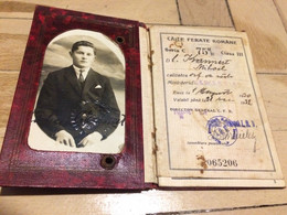 M1 Romania CFR - Carnet De Identitate Pt Invalizi, Orfan Sau Vaduva 1930 - Europa