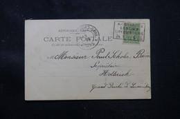 LUXEMBOURG - Affranchissement  De Luxembourg Sur Carte Postale En 1899 Pour Hollerich - L 76384 - 1895 Adolphe Profil