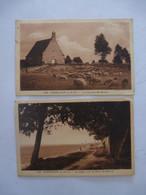 CHERRUEIX (35) : La CHAPELLE SAINTE-ANNE Et La DIGUE Côté Mont-St-Michel - LOT De 2 CARTES - Circulées En 1931 - Altri Comuni