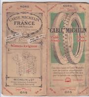 """CARTE MICHELIN De La FRANCE En 48 FEUILLES /Echelle 1/200 000e-""""NÎMES-AVIGNON."""" N°40- PUBLICITE MICHELIN-(période 1920) - Roadmaps"""