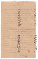 Lettre D'un Détenu De La Prison De Louvain En Décembre 1944 à Son épouse. - Manuscritos