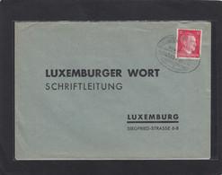 """BRIEF MIT BAHNPOSTSTEMPEL """"ETTELBRÜCK-ECHTERNACH , ZUG 4362"""" - 1940-1944 Duitse Bezetting"""