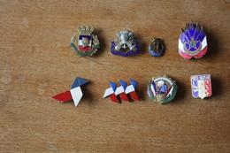 Lot De 8 Insignes Militaires Et Associations Anciens Armée D'Afrique St Cyr A Identifier - Sonstige