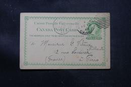 CANADA - Entier Postal De Montréal En 1892 Pour Paris - L 76389 - Briefe U. Dokumente