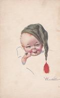 Illustrateur CASTELLI - ENFANT ET BONNET DE NUIT -   (lot Pat 125/1) - Castelli