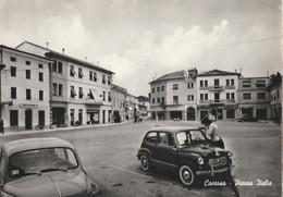 3311 - CASARSA - PIAZZA ITALIA CON AUTOMOBILI - Andere Städte