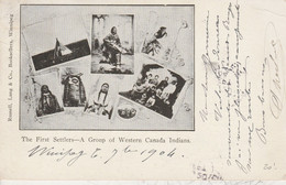 The First Settlers - A Group Of Western Canada Indians - Indiani Dell'America Del Nord