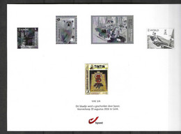 Blaadje Voorverkoop  3/4 2016  Kuifje Tintin - Black-and-white Panes