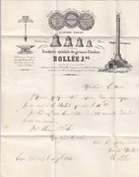 LETTRE. 11 DEC 1844. MAGNIFIQUE EN-TETE FONDERIE SPECIALE DE GROSSES CLOCHES. BOLLÉE Jne LUÇON   / 2 - 1801-1848: Precursores XIX