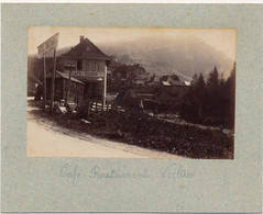 J112 - Photographie Originale - SAINT-PIERRE-DE-CHARTREUSE - Isère - Café-Restaurant Vichier - Alte (vor 1900)