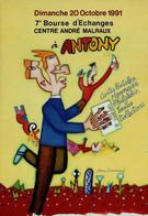 92 - ANTONY - 7e Bourse D'échanges 1991 - Sammlerbörsen & Sammlerausstellungen