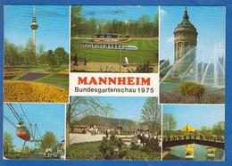 Deutschland; Mannheim; Multibildkarte Bundesgartenschau 1975 - Mannheim