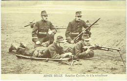 Militaria. Armée Belge. Bataillon Cycliste. Tir à La Mitrailleuse. - Materiale