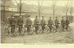 Militaria. Armée Belge. Bataillon Cycliste. Section De Mitrailleurs. - Materiale