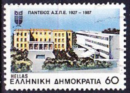Griechenland Greece Grèce - 60 Jahre Panteios-Hochschule (Mi.Nr.: 1668) 1987 - Gest Used Obl - Used Stamps