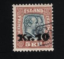 1930 Christian IX / Frederik Mi IS 141 Sn IS 143 Yt IS 122 Sg IS 150a  AFA IS 141 Gest. O - Gebruikt