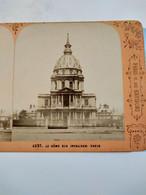 PHOTO STÉRÉO   PARIS - Le Dôme Des Invalides - Circa  1880 - TBE - Fotos Estereoscópicas