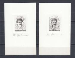 Austria 1970 Johann Strauss Two Printing Phase Proofs, Rare! - Proofs & Reprints