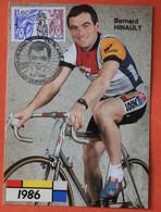 Cyclisme Bernard Hinault , Les Adieux Du Blaireau , Cachet Postal Spécial - Ciclismo