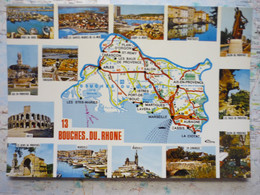 Carte Du Département Des Bouches Du Rhône Avec Vues Multiples - Non Classificati