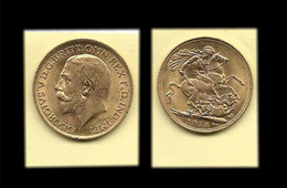 1/2 Sovereign De 1914 Georges V Or - 1/2 Sovereign