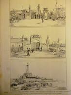 Tonkin , L'exposition D'Hanoi Inaugurée Le 16 Mars , Dessin De Leofanti 1887 - Documenti Storici