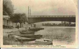 1936 VICHY : PONT De BELLERIVE Location De Canots Animée - Vichy