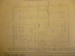 Plan De L'exposition D'Hanoi ( Camp Des Lettrés ) 1887 - Documenti Storici