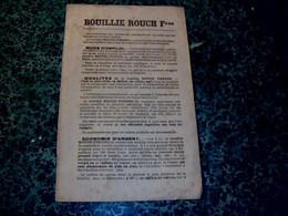 Publicité Très-vieux  Buvard Bouillie Rouch Frères à Toulouse Imprimé Recto- Verso - R