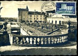 Carte Maximum 1er Jour VILLANDRY Le Château 17 Juillet 1954 Carte édition Yvon - 1950-59